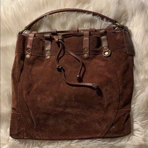 Brown suede Lucky Brand bag